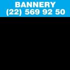 Banner ogłoszeniowy 2x0,5 m  (2W jasny niebieski)