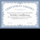 Certyfikat jakości - A4 poziom