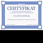 Certyfikat uniwersalny - A4 poziom