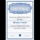 Certyfikat uniwersalny A4 wz.1