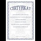 Certyfikat uniwersalny A4 wz.2