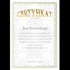 Certyfikat uniwersalny A3