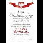 List gratulacyjny wz. 1