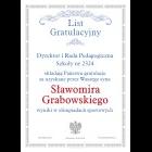 List gratulacyjny wz. 3