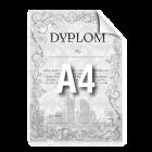 Dyplom A4 kolor jednostronnie