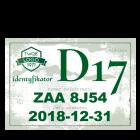 Identyfikator wjazdu (przepustka) 210x148 (A5)