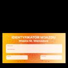 Identyfikator wjazdu (przepustka) 210x99 (DL)