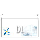 Koperta DL biała + druk: kolor jednostronnie