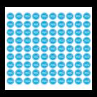 Małe etykiety FOLIOWE  rycowane - dowolny kształt