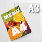 Menu składane A4