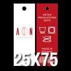 Metka produktowa 25x75