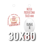 Metka produktowa 30x80