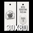 Metka produktowa EKO 30x80