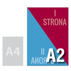 Naklejka DWUSTRONNA A2 (na szybę)