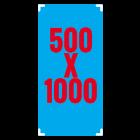 Naklejka przezroczysta 50x100 cm (na szybę)
