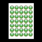 Naklejki papierowe rycowane - okrągłe fi 50 mm