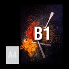 Tablica (plansza) B1, spienione PCV