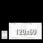 Tablica suchościeralna z własnym nadrukiem 120x60