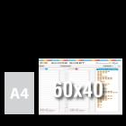 Tablica suchościeralna z własnym nadrukiem 60x40