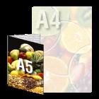 Ulotka A4/A5 4+1 (kolor + cz-b)