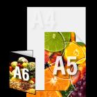 Ulotka A5/A6 4+0 kolor jednostronnie