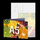 Zaproszenie A5 składane wz.2, kolor dwustronnie