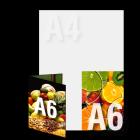 Zaproszenie A6 składane wz.1, kolor dwustronnie