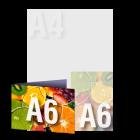 Zaproszenie A6 składane wz.2, kolor dwustronnie