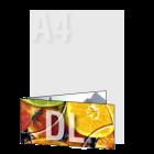 Zaproszenie DL składane wz.1, kolor dwustronnie