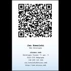 Wizytówka pionowa z QR kodem - 55x85 mm  (v.1vc)