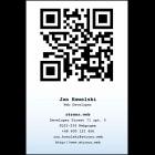 Wizytówka pionowa z QR kodem - 55x85 mm (v.1.url)