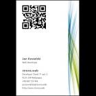 Wizytówka pionowa z QR kodem - 55x85 mm  (v.2.url)