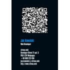 Wizytówka pionowa z QR kodem - 55x85 mm  (v.3.vc)