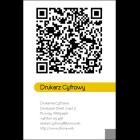 Wizytówka pionowa z QR kodem - 55x85 mm  (v.4.vc)