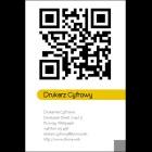 Wizytówka pionowa z QR kodem - 55x85 mm  (v.4.url)