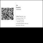 Wizytówka pozioma z QR kodem - 85x55 mm  (v.1.vc)
