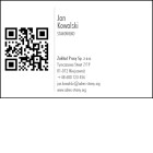 Wizytówka pozioma z QR kodem - 85x55 mm  (v.1.url)