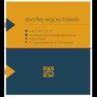 Wizytówka QR dwustronna 90x50 mm (wzór 1)